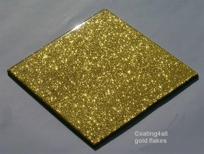 Goud metallic Flake additief