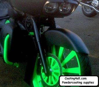 glow in the dark transparante poedercoating